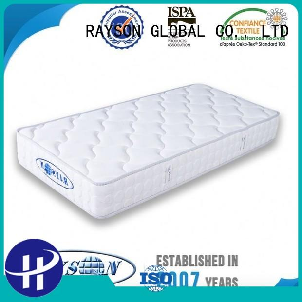 Rayson Mattress Brand zoned royal flexible continuous spring mattress manufacture