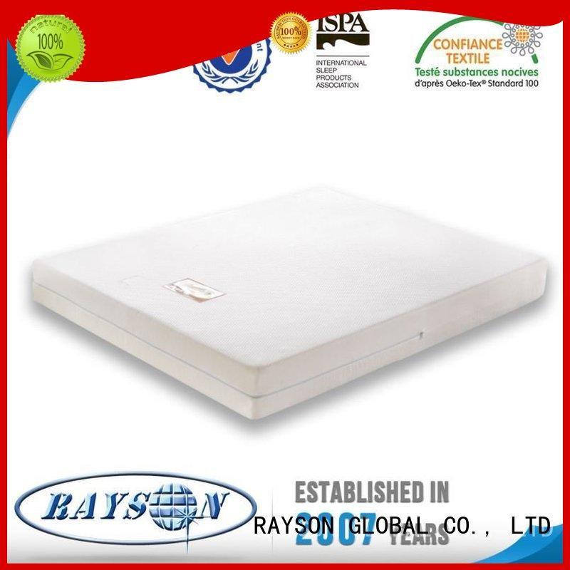 guaranteed star best quality memory foam mattress Rayson Mattress manufacture