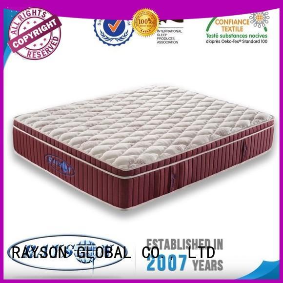 Rayson Mattress european innerspring mattress with memory foam top Suppliers