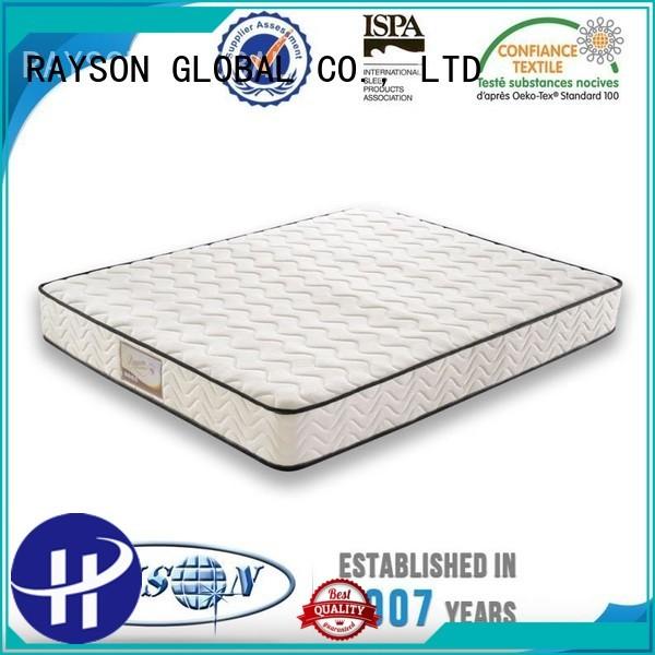 Wholesale silk top 10 pocket sprung mattress Rayson Mattress Brand
