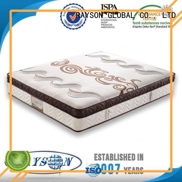 single bonnell memory mattress pillow for hotel Rayson Mattress