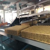 Foam quilting layer rolled packing for mattress manufacturer abroad in south american market