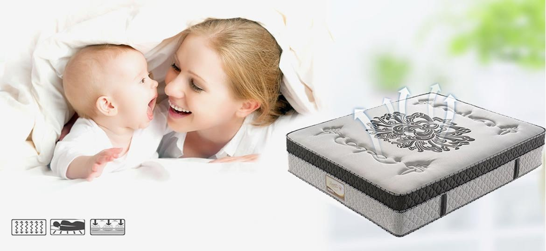 Rayson Mattress-Luxury Euro Top Pocket Spring Mattress With Memory Foam Fashion Design pocket spring