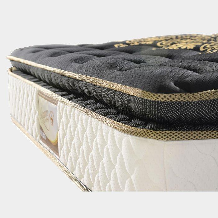 Golden Color Knitted Fabric pillow top bonnell spring mattress