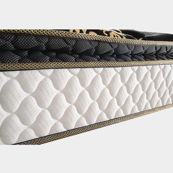 Golden Color Knitted Fabric pillow top bonnell spring mattress