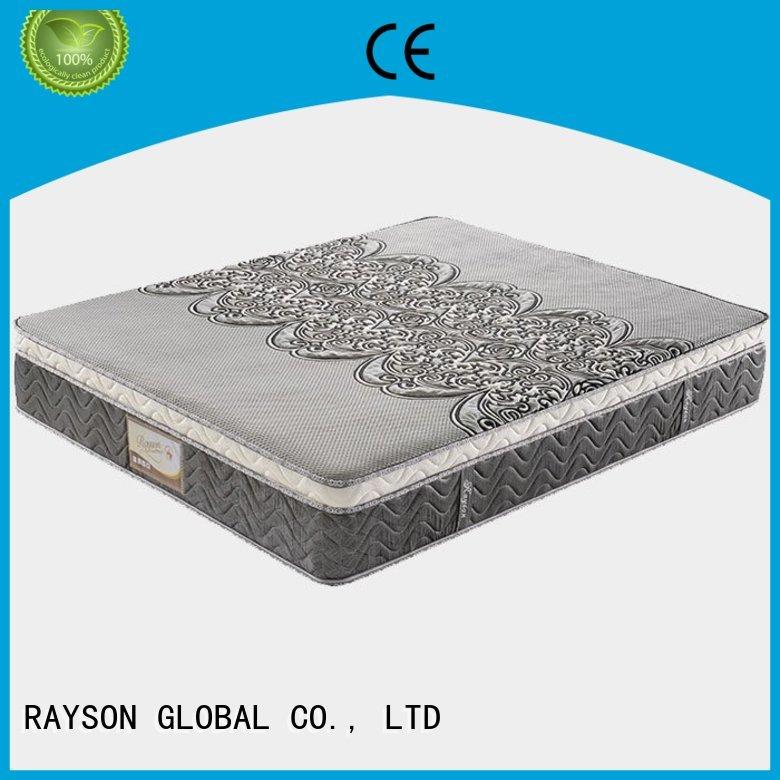 anti polyester 15 top 10 pocket sprung mattress Rayson Mattress manufacture