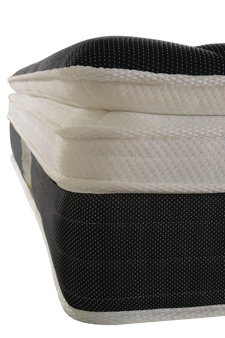 Pillow top euro top 14 inch coil spring mattress