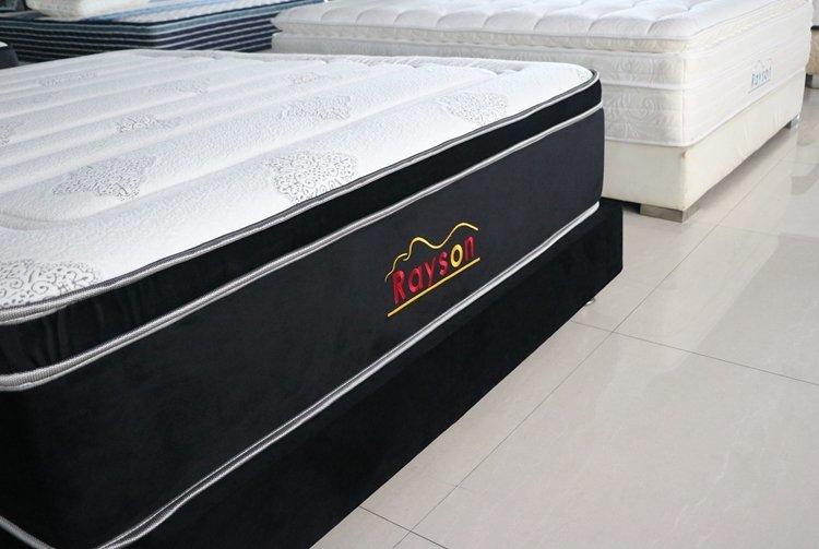 Pocket coil box spring mattress king size firm euro top