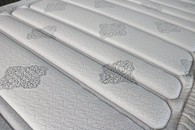 Pocket coil box spring mattress king size firm euro top