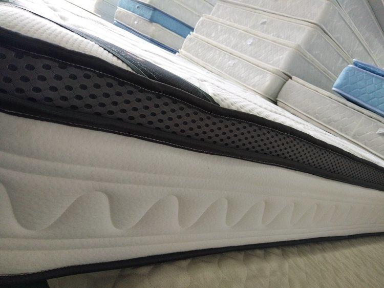 Queen size box coil spring mattress euro top