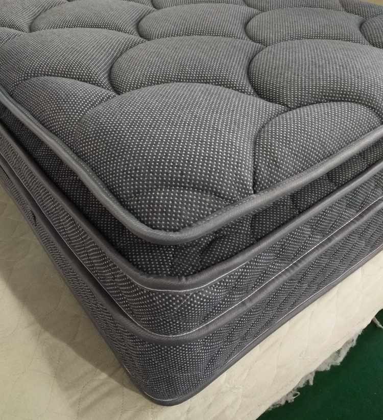 Special gray knitted fabric pocket spring mattress for euro
