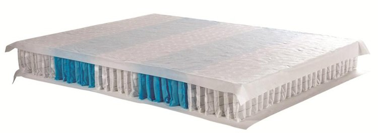 Rayson Mattress-Simple pocket coil sprung mattress double size medium firm tight top-6