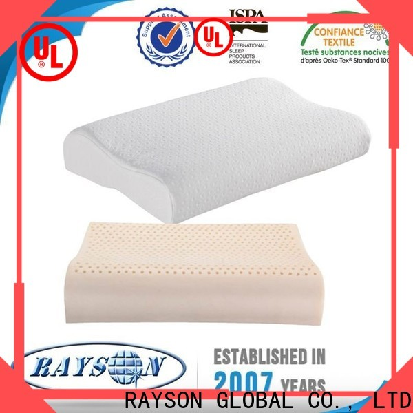 Rayson Mattress customized foam pillow with holes manufacturers