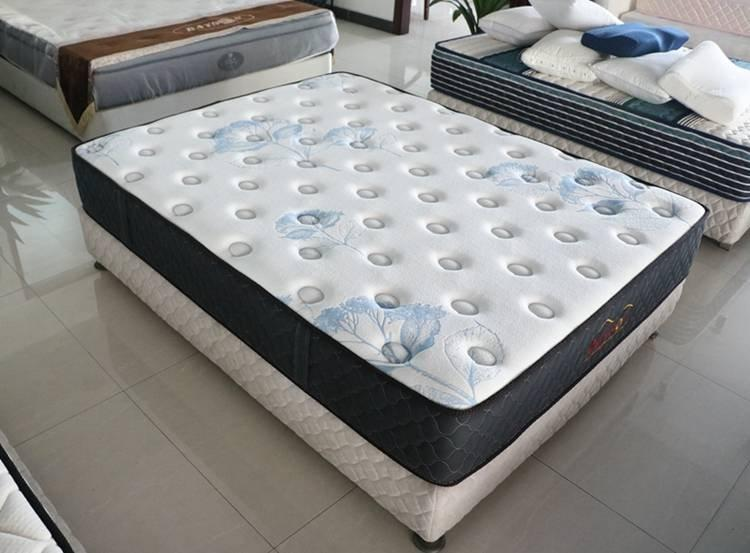 Simple pocket coil sprung mattress double size medium firm tight top