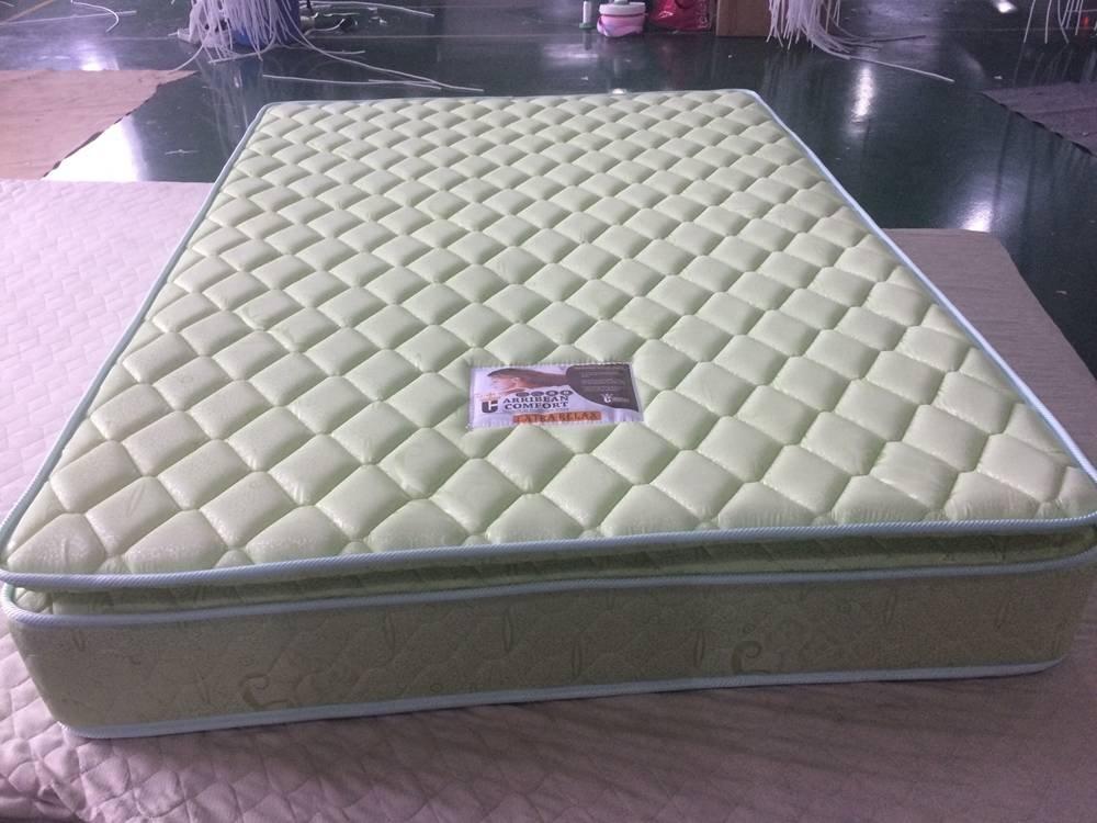 Pollow top continuous spring hot sale mattress
